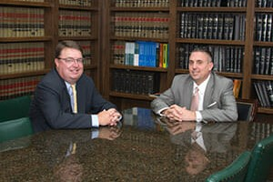 Chip Evans '94 (left) and Scott Herlihy '92 (right)