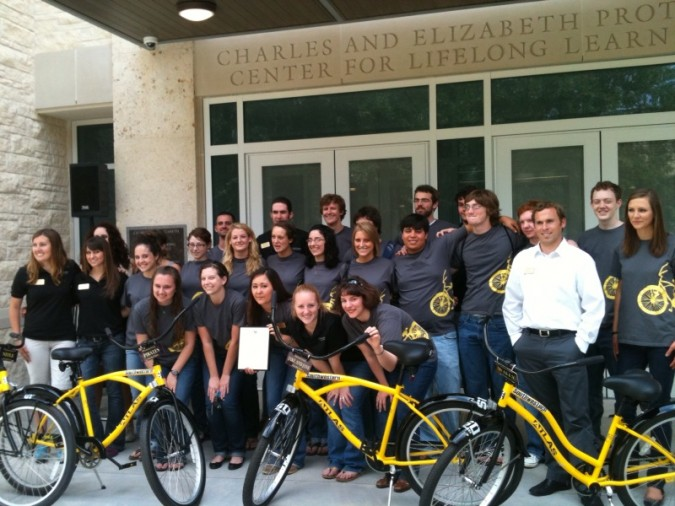Student Foundation posing with Pirate Bikes