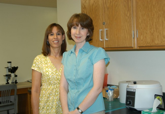 Maria Todd (right) and Maria Cuevas (left) have received a $98,928 grant from the National Science Foundation for further ...