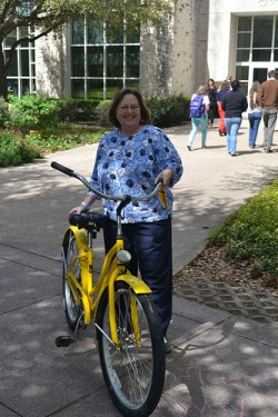 Shelly Hargrove, Main Street Manager, attended Philanthropy Week to support the Pirate Bike Program.