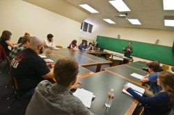 Students in John Pipkin's creative writing class get a chance to learn writing from an award-winning author (Photo by Carl...