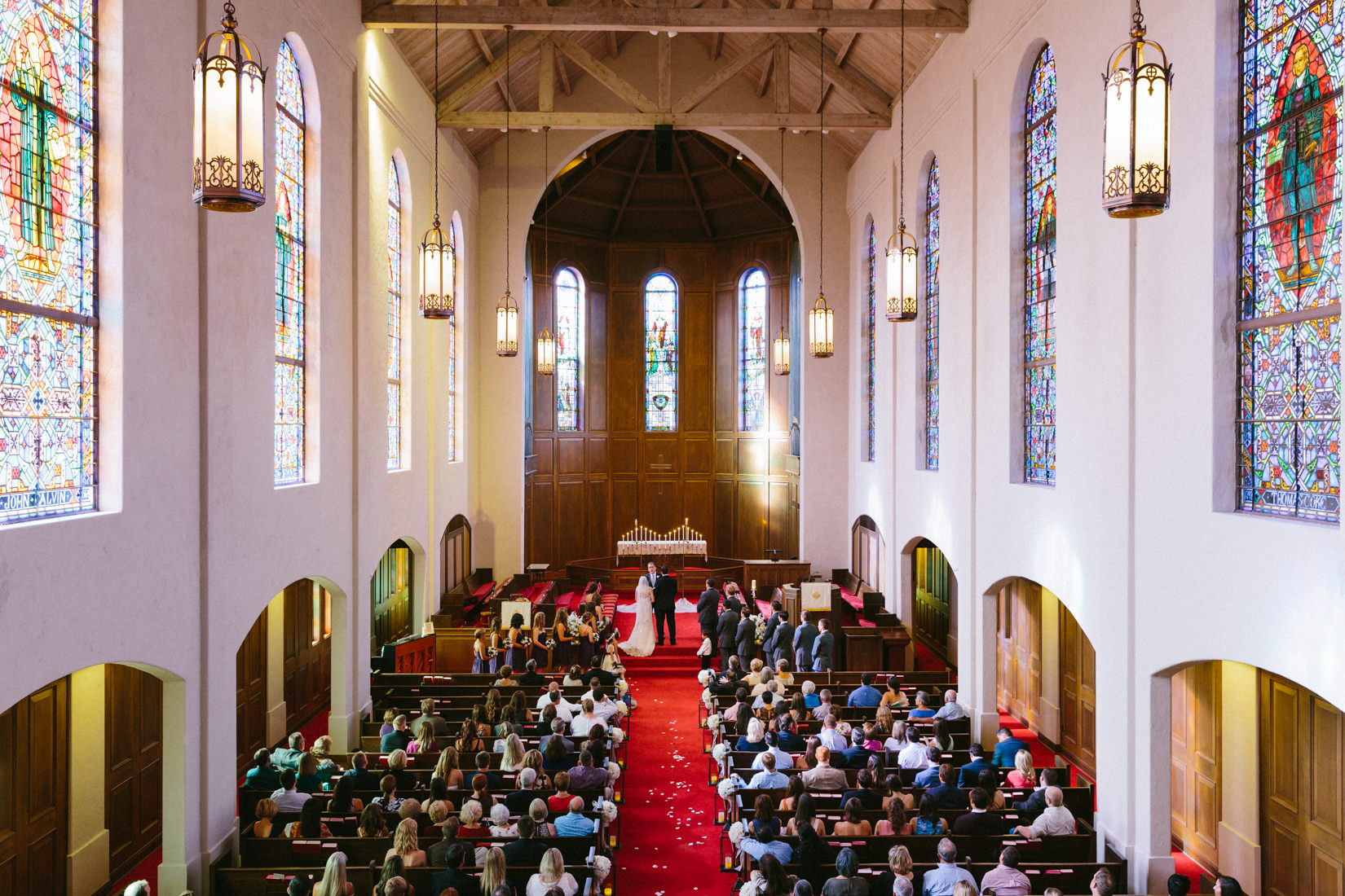 Chapel Interior at Wedding