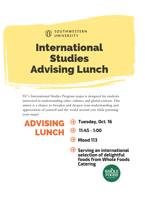 International Studies Advising Lunch