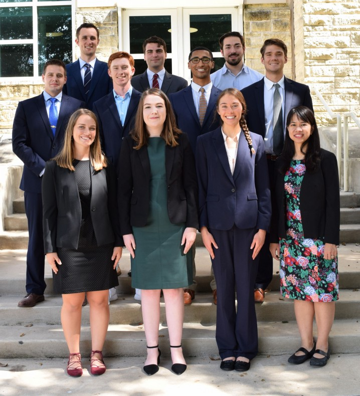 The Financial Analyst Program 2019-2020: (left to right) back row: Michael Dame, Connor Barloon, ...