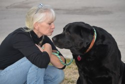 Dr. Laura Hobgood-Oster with Milo