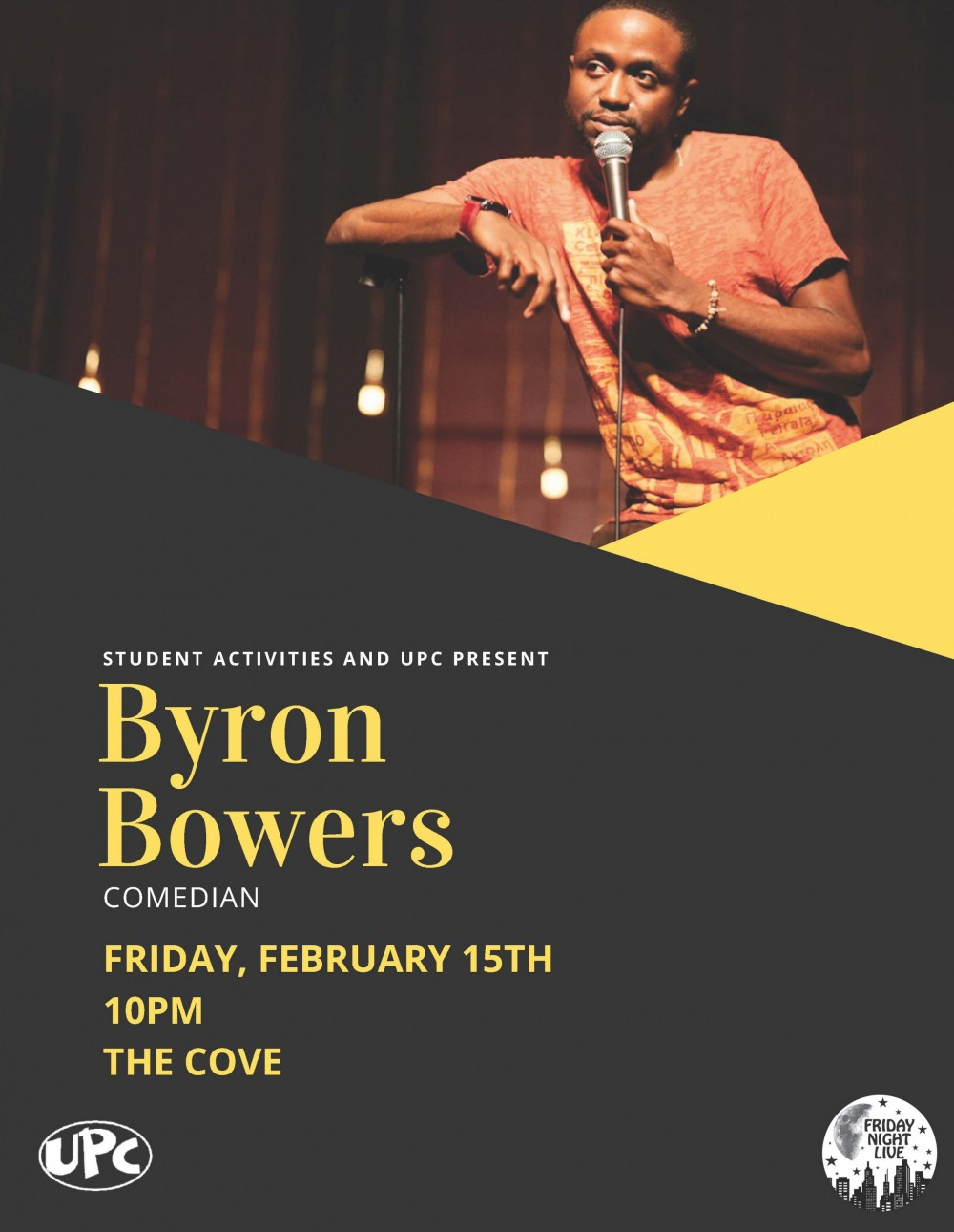 Byron Bowers flyer